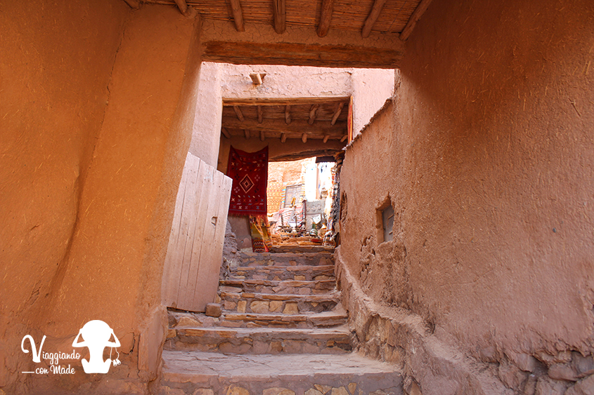 Entrando all'interno dello Ksar Ait Ben Haddou