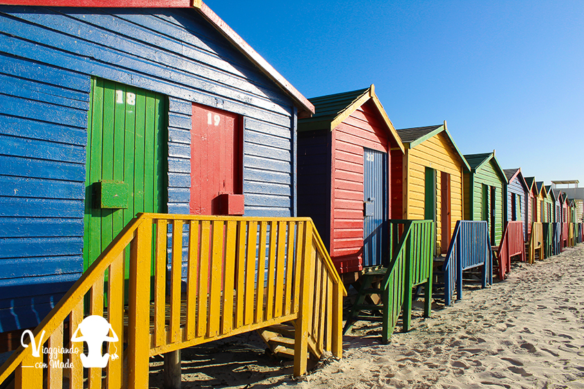 Le cabine colorate di Muizenberg Beach